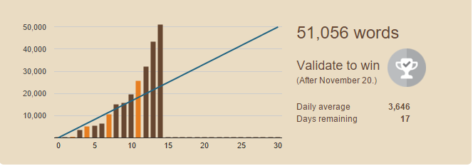 Nanowrimo 2015 – completed